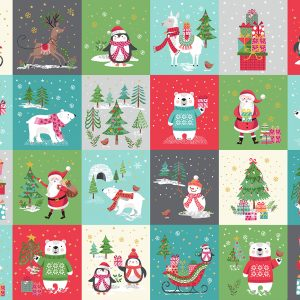 Let It Snow by Makower Fabrics