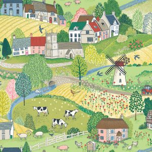 Village Life by Makower Fabrics