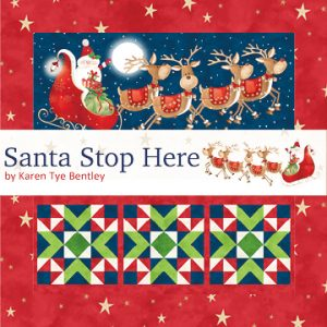 Santa Stop Here Please by Northcott Fabrics